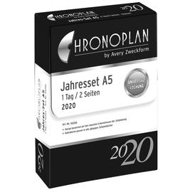 Jahres-Set mit Tagesplan 2020 für Organizer A5 148x210mm 1Tag/2Seiten Chronoplan 50200 Produktbild