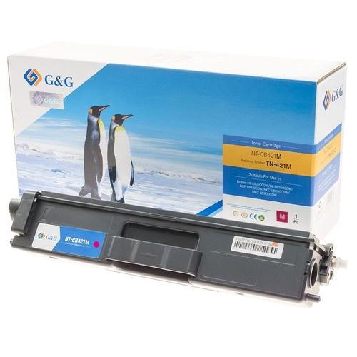Toner CB421 für HL-L8360/8260/8690/8900 1800 Seiten magenta passend zu Brother TN-421M Produktbild Front View L