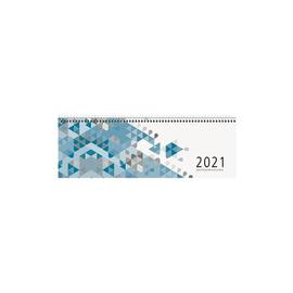 Querkalender 2021 30x10cm 1Woche/2Seiten blau Spiralbindung Zettler 116-0015 Produktbild