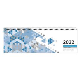 Querkalender 2022 30x10cm 1Woche/2Seiten blau Spiralbindung Zettler 116-0015 Produktbild