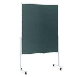 Moderationswand mobil 150x120cm grau filzbespannt Magnetoplan 2111101 Produktbild