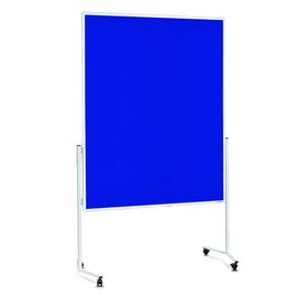 Moderationswand mobil 150x120cm blau filzbespannt Magnetoplan 2111103 Produktbild