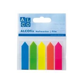 Haftmarker Film Pfeile 12x50mm 5 Leuchtfarben transparent Alco 6835 (PACK=125 STÜCK) Produktbild