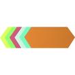 Moderationskarten Rhombus 95x205mm farbig sortiert Soennecken 4881 (PACK=250 STÜCK) Produktbild