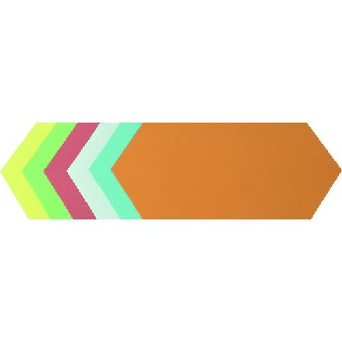 Moderationskarten Rhombus 95x205mm farbig sortiert Soennecken 4881 (PACK=250 STÜCK) Produktbild Front View L