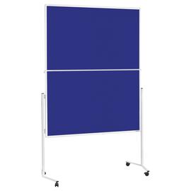 Moderationswand klappbar mobil 120x150cm blau filzbespannt Magnetoplan 2111303 Produktbild