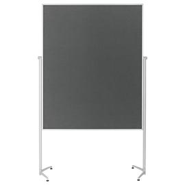 Moderationswand evolution plus 120x150cm grau filzbespannt Magnetoplan 1151101 Produktbild