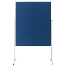 Moderationswand evolution plus 120x150cm blau filzbespannt Magnetoplan 1151103 Produktbild