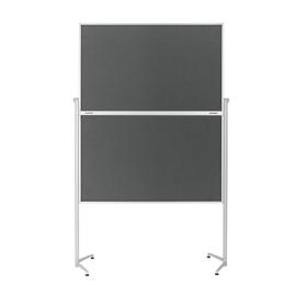 Moderationswand evolution plus klappbar 120x150cm grau filzbespannt Magnetoplan 1151301 Produktbild