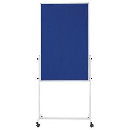 Multiboard UNIVERSAL mobil 75x120mm blau filzbespannt Magnetoplan 11112103 Produktbild