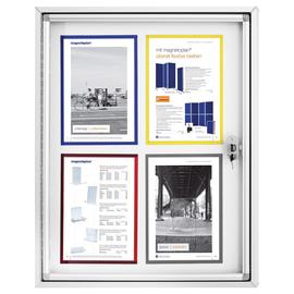 Schaukasten CC für Außenbereich 4xA4 mit Flügeltür 65x79x6,5cm Metall- Rückwand magnetisch Magnetoplan 1214000 Produktbild