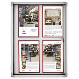Schaukasten SP für Innenbereich 4xA4 mit Flügeltür 61x73x4cm Metall-Rückwand magnetisch Magnetoplan 1215000 Produktbild