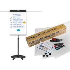 Flipchart-Tafel UNIVERSAL Triangle 68x105cm Rundfuß mobil + Starterkit gratis Legamaster 7-SC153600+124900 Produktbild