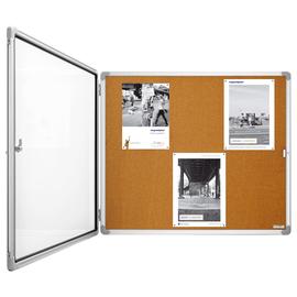 Schaukasten SP Kork für Innenbereich 6xA4 mit Flügeltür 87x75x4cm Metall- Rückwand Magnetoplan 1215124 Produktbild
