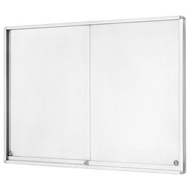 Schaukasten für Innenbereich 27xA4 mit Schiebetüren 196,5x105x6cm Metall- Rückwand magnetisch Magnetoplan 1218083 Produktbild