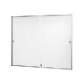 Schaukasten de luxe für Innenbereich 3x 4 A4 mit Schiebetüren 89,8x93,8x3cm Metall-Rückwand magnetisch Magnetoplan Produktbild