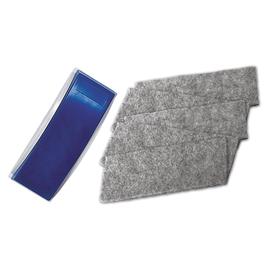 Tafelwischer mit Filz blau magnetisch mit 5 Ersatzstreifen Magnetoplan 12293 Produktbild