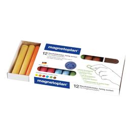 Wandtafelkreide 95mm x 16mm farbig sortiert rund Magnetoplan 12306 (PACK=12 STÜCK) Produktbild