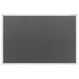 Textil-Pinnwand Design SP mit Aluminiumrahmen 120x90cm grau Magnetoplan 1412001 Produktbild