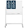Mobile Stativ-Drehtafel Design CC 180x120cm weiß beidseitig emailliert Magnetoplan 1240690 Produktbild