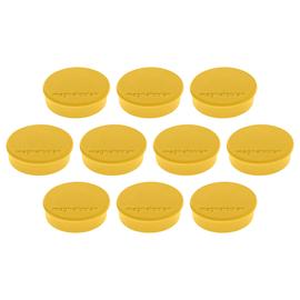 Haftmagnete Discofix Hobby ø 24 mm 300g Haftkraft gelb Magnetoplan 1664502 (PACK=10 STÜCK) Produktbild