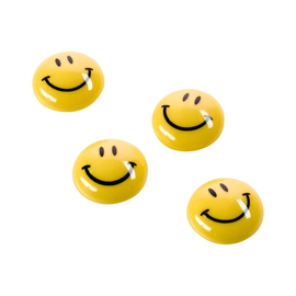 Haftmagnete Smiley ø 30 mm 4 Blätter Haftkraft Magnetoplan 16672 (PACK=8 STÜCK) Produktbild