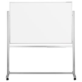 Mobile Stativ-Tafel Design ferroscript 150x100cm weiß beidseitig lackiert Magnetoplan 1240315 Produktbild