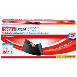 Tischabroller Easy Cut Curve incl. 1Rolle befüllbar bis 19mm x 33m schwarz Tesa 53917-00000-00 Produktbild