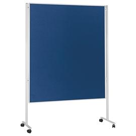 Kommunikationswand mobil 120x150cm blau filzbespannt Magnetoplan 1101103M Produktbild