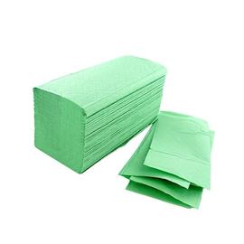 Aktion Handtuch Zickzack-V-Falz 2-lagig 24x23cm / grün / 18,5g (KTN=3990 STÜCK) Produktbild