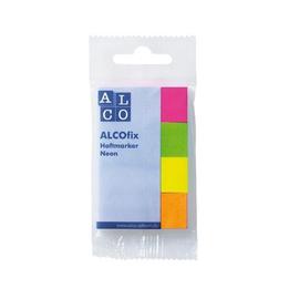 Haftmarker Neon 20x50mm 4 Neonfarben Papier Alco 6831 (PACK=200 STÜCK) Produktbild