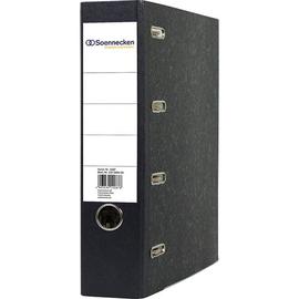 Doppelordner A4 für 2x A5 quer 75mm schwarz Pappe Soennecken 3347 Produktbild