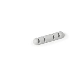 Kabelclips CAVOLINE CLIP 4 für 4 Kabel 20x12x82mm selbstklebend grau Durable 5040-10 (PACK=2 STÜCK) Produktbild