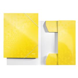Eckspanner WOW A4 für 250Blatt gelb metallic PP-laminierter Karton Leitz 3982-00-16 Produktbild