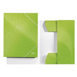 Eckspanner WOW A4 für 250Blatt grün metallic PP-laminierter Karton Leitz 3982-00-54 Produktbild