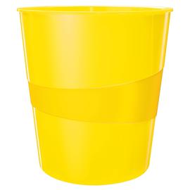 Papierkorb WOW 15l gelb metallic Leitz 5278-10-16 Produktbild