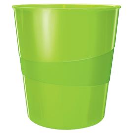 Papierkorb WOW 15l grün metallic Leitz 5278-10-54 Produktbild