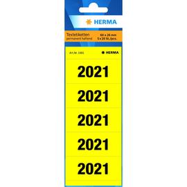Jahreszahlenaufkleber 2021 gelb Herma 1681 (PACK=100 STÜCK) Produktbild