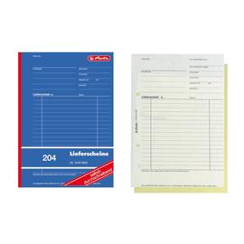 Lieferscheinbuch A5 hoch 2x40Blatt 1-fach selbstdurchschreibend Herlitz 204 (PACK=4 STÜCK) Produktbild