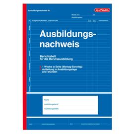 Ausbildungsnachweisbuch für tägliche Eintragungen A4 28Blatt geheftet Herlitz 840702 Produktbild