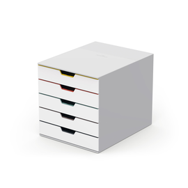 Schubladenbox Varicolor Mix 5 Schübe 292x356x280mm grau Durable 7625-27 Produktbild