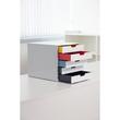 Schubladenbox Varicolor Mix 5 Schübe 292x356x280mm grau Durable 7625-27 Produktbild Additional View 1 S