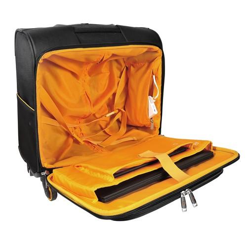 "Notebooktrolley mit Laptopfach 15,6"" 42x23x48cm schwarz 18834E Exacompta Produktbild Additional View 2 L"