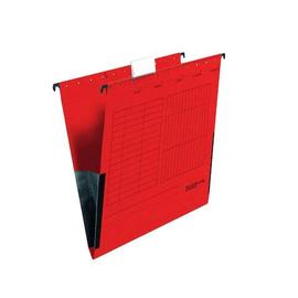 Hängetaschen UniReg seitliche Frösche für ungelochte Unterlagen rot Falken 11287802 (PACK=5 STÜCK) Produktbild