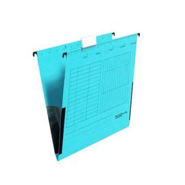 Hängetaschen UniReg seitliche Frösche für ungelochte Unterlagen blau Falken 11288016 (PACK=5 STÜCK) Produktbild