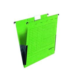 Hängetaschen UniReg seitliche Frösche für ungelochte Unterlagen grün Falken 11288024 (PACK=5 STÜCK) Produktbild