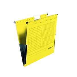 Hängetaschen UniReg seitliche Frösche für ungelochte Unterlagen gelb Falken 11288032 (PACK=5 STÜCK) Produktbild