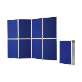 Präsentationswand 8-teilig faltbar 244x180cm blau Filz doppelseitig Magnetoplan 1101016 Produktbild