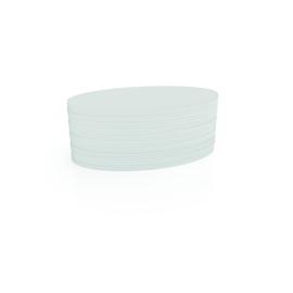 Moderationskarten Oval 190x110mm weiß Magnetoplan 111151900 (PACK=500 STÜCK) Produktbild