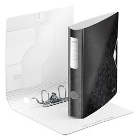 Ordner 180° Active WOW A4 60mm schwarz metallic Kunststoff Leitz 1107-00-95 Produktbild